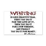 Moliere Writing Quote 22x14 Wall Peel
