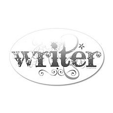 Urban Writer 22x14 Oval Wall Peel