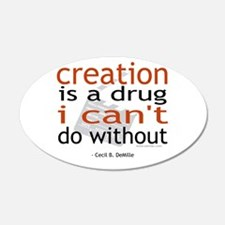 Creation is a drug 22x14 Oval Wall Peel