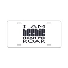 Techie Roar Aluminum License Plate