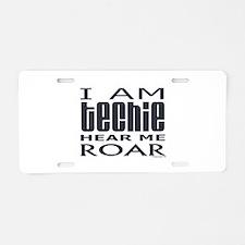 Techie Roar Aluminum License Plate
