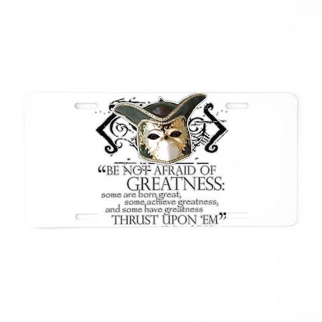Twelfth Night 2 Aluminum License Plate