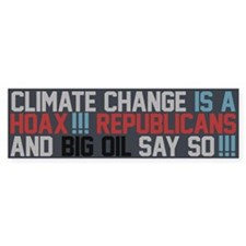 Climate Change and Big Oil Bumper Sticker