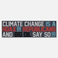 Climate Change and Big Oil Sticker (Bumper)