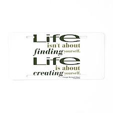 Shaw Life Aluminum License Plate