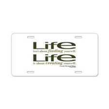 Shaw Quote No. 1 Aluminum License Plate