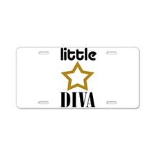 Little Diva Aluminum License Plate