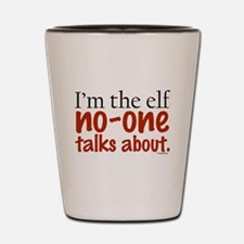 No Talk Elf Shot Glass