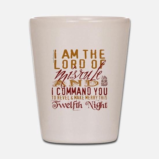 Lord of Misrule/Twelfth Night Shot Glass