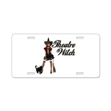 Theatre Witch Aluminum License Plate