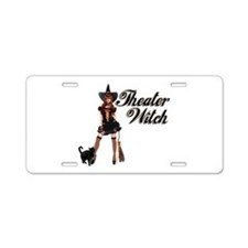 Theater Witch Aluminum License Plate
