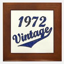 Cool 1972 birthday. Framed Tile