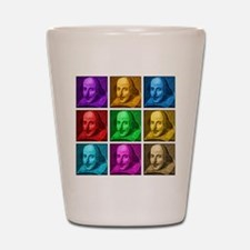 Shakespeare Pop Art Shot Glass