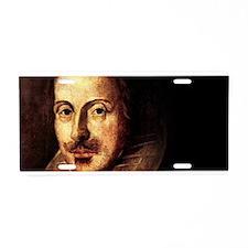Shakespeare Portrait Aluminum License Plate