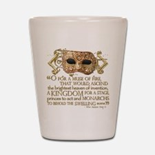 Henry V Quote Shot Glass