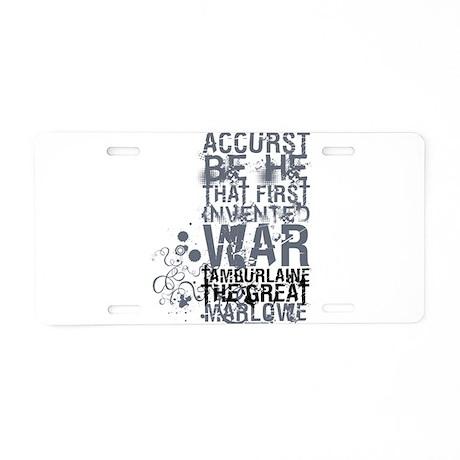 Tamburlaine Aluminum License Plate