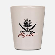 Elizabethan Pyrate Insignia Shot Glass