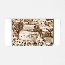 The Globe Theatre Aluminum License Plate
