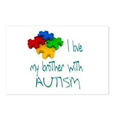 I love my brother with autism Postcards (Package o