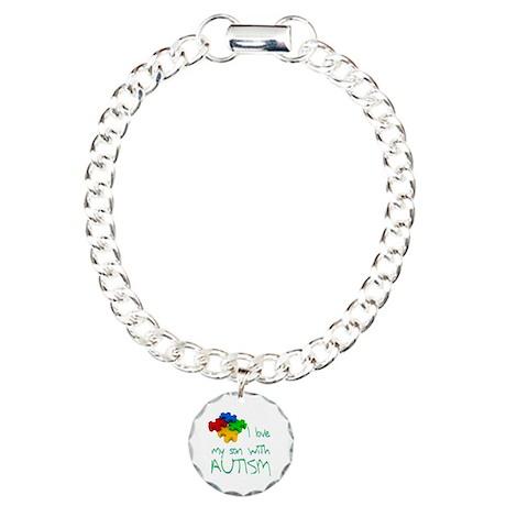 Autistic son Charm Bracelet, One Charm