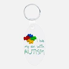 Autistic son Keychains