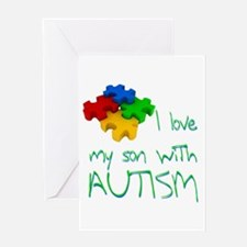 Autistic son Greeting Card