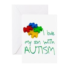 Autistic son Greeting Cards (Pk of 20)