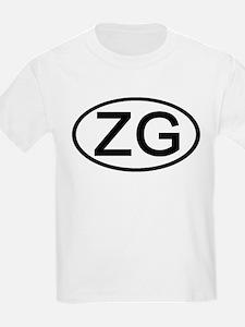 ZG - Initial Oval Kids T-Shirt