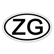 ZG - Initial Oval Oval Decal