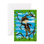 Mini Jungle Explorer Greeting Card