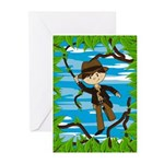 Mini Jungle Explorer Greeting Cards (Pk of 10)