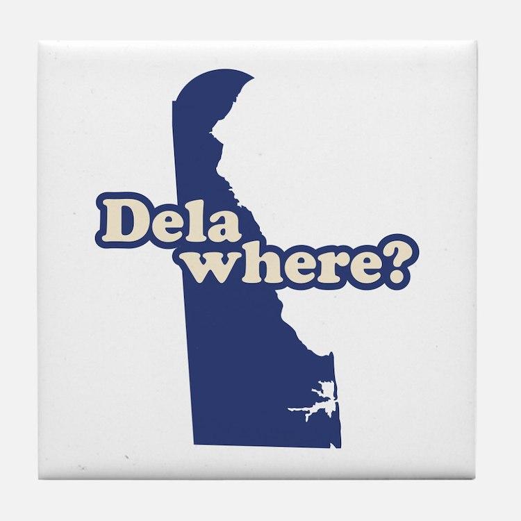 """Delaware"" Tile Coaster"