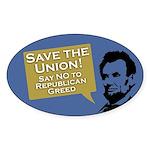 Save The Union Lincoln bumper sticker