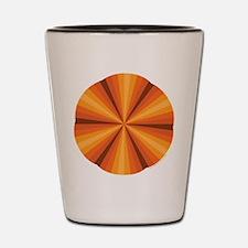 Orange Illusion Shot Glass