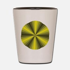 Yellow Illusion Shot Glass