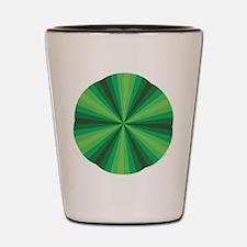 Green Illusion Shot Glass