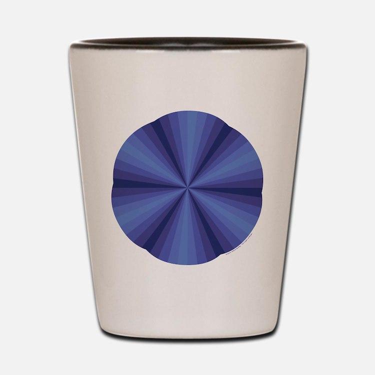 Blue Illusion Shot Glass