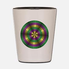 Mardi Gras Illusion Shot Glass