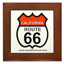 California Route 66 Framed Tile