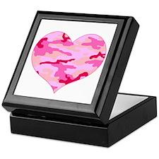 Pink Camo Heart Keepsake Box