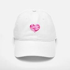 Pink Camo Heart Baseball Baseball Cap