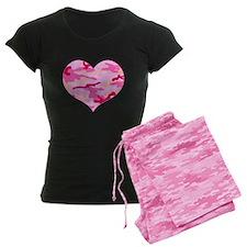 Pink Camo Heart Pajamas