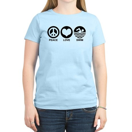 Peace Love Swim Women's Light T-Shirt