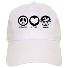 Peace Love Swim Baseball Cap