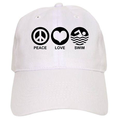 Peace Love Swim Cap