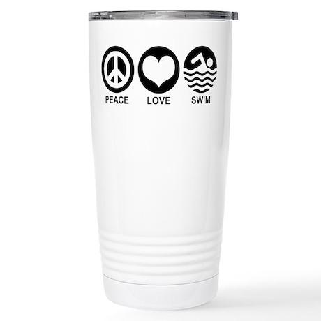 Peace Love Swim Stainless Steel Travel Mug