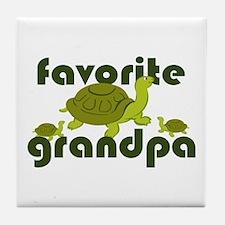 Favorite Grandpa Tile Coaster