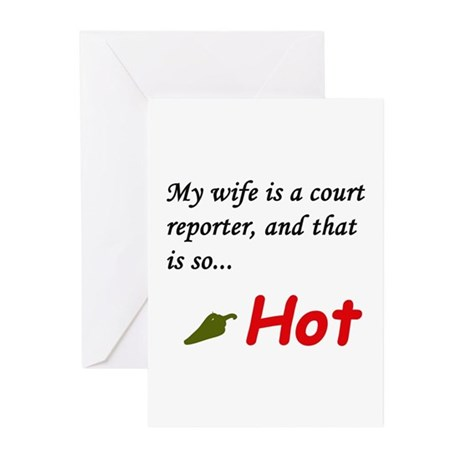 My wife is a ... Greeting Cards (Pk of 10)