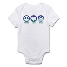 Peace Love Swim Infant Bodysuit