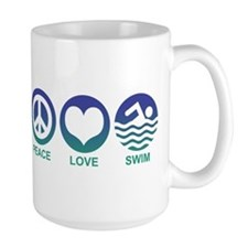 Peace Love Swim Mug